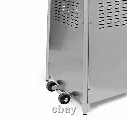 Pyramid Gas Patio Heater Stainless Steel 13kw Outdoor Garden With Wheels & Cover