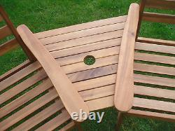 Quality Love Seat Companion Set Hardwood Bench Garden Furniture Free Delivery