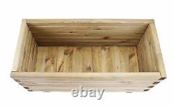 Raised Trough Pine Planter Garden Self Contained Flower Bed Plot Patio Plant
