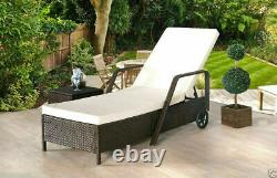 Rattan Day Bed Garden Furniture Sofa Lounger Outdoor Patio Wicker New Rattan