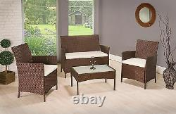 Rattan Garden Furniture Set Chairs Sofa Table Outdoor Patio Conservatory Wicker