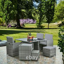 Rattan Garden Furniture Set Chairs Sofa Table Outdoor Patio Wicker