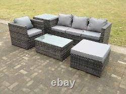 Rattan Sofa Garden Furniture Set Patio Outdoor Table Chairs Sofa Conservatory