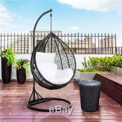 Rattan Swing Patio Garden Weave Hanging Egg Chair withCushion& Cover In or Outdoor