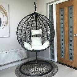 Rattan Swing Patio Garden Weave Hanging Egg Chair withCushion In or Outdoor