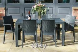 Rattan Table & Chairs For Patio / Outdoor / Indoor / Stackable / For Garden