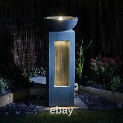 Serenity Cascade Garden Water Feature Outdoor Fountain LED Light Patio Decor NEW