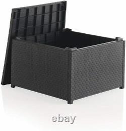 Shaf Plastic Rattan Garden Furniture Outdoor 4pcs Patio Sofa Set Chairs Table