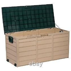 Starplast Outdoor Garden Plastic Storage Utility Chest Cushion Shed Box 280L
