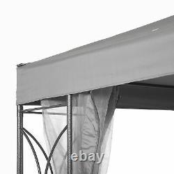 SunTime Polenza 2.5m Garden Grey Gazebo Outdoor Patio Party Sun Tent Canopy