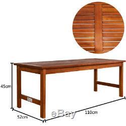 Wooden Garden Lounge Patio Table Bench Chair Set Outdoor Cushion Sofa Furniture