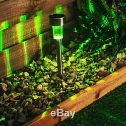 12 X Changement De Couleur Inox Solaire Led Terrasse Jardin Post Lumières Extérieures