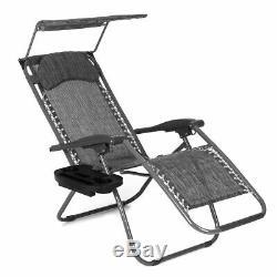 2 X Reclining Bain De Soleil Extérieur Jardin Patio Gravity Chaise Pliante Réglable