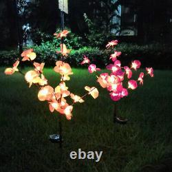 2pc Solar Garden Lights Orchid Flowers Pieu Lampe Pour Yard Extérieur Patio Décor