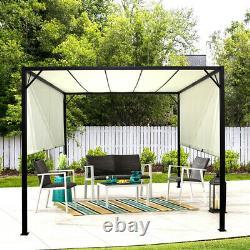 3m Pergola Extérieure En Métal Gazebo Patio Garden Sun Shade Shelter Canopy Réglable