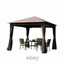 3m X 3m Garden Gazebo Metal Party Tent Patio Pavilion Marquee Canopy Outdoor New
