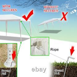 3x6m Gazebo Marquee Party Tente Avec 6 Côtés Jardin Patio Extérieur Canopy Blanc Royaume-uni