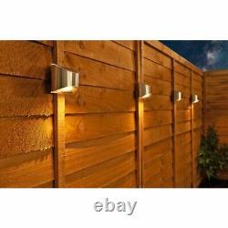 4 X Led Solar Power Garden Fence Lumières Murales Patio Lumières De Sécurité Extérieure