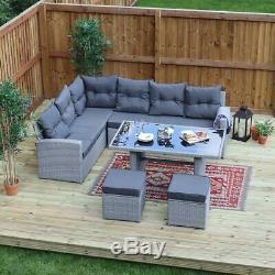 5 Piece De Jardin Rotin Sofa Mobilier D'extérieur Set Chaises Table Sofa Wido
