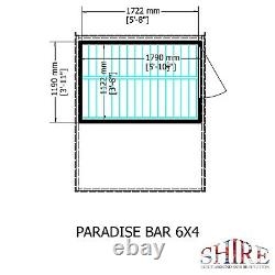 6x4 Bar Jardin Extérieur Hangar De Boisson En Bois Hatch Patio Feuillure Magasin Bois Bois