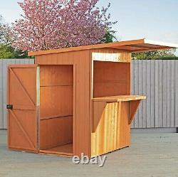 6x4 Garden Bar Shed Boissons Extérieures En Bois Hatch Patio Party Shiplap Porte Gauche