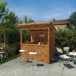 6x4 Garden Bar Tiki Pub Outdoor Home Patio Drinks Pressure Bois Tréée 6ft 4ft