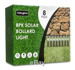 8 X Énergie Solaire Lampes De Jardin Après Patio Extérieur Led En Acier Inoxydable