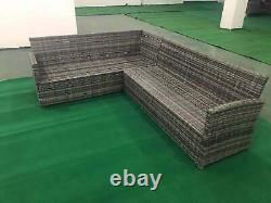 9 Siège Rattan Garden Furniture Corner Sofa Dining Sets Outdoor Patio With Stools
