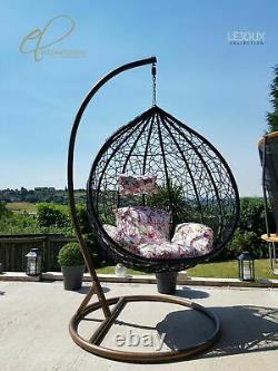 Accrocher Rattan Swing Patio Garden Chaise Tisser Oeuf Avec Coussin En Plein Air