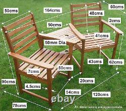 Ascot Companion Set Hardwood Garden Bench Corner Love Seat Jack Et Jill