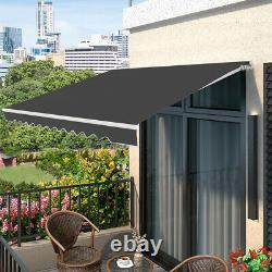 Auvent Patio De 2,5x3m Manuel Jardin De Canopy Soleil Ombre Refuge Rétractable À L'extérieur