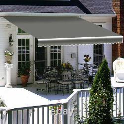 Auvent Rétractable Manuel Jardin Extérieur Canopy Patio Sun Shade Shelter 3 Tailles