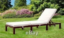 Balancelle Jour En Rotin Lit Inclinable Chaise D'extérieur Meubles De Jardin Patio Terrasse