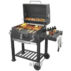 Barbecue Charcoal Grill With Wheels Portable Party Outdoor Patio Garden Barbecue Royaume-uni