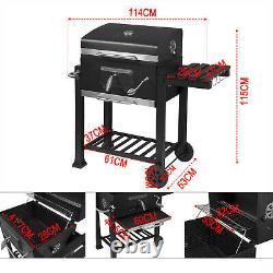 Barbecue Portable Barbecue Grill Trolley Barbecue Patio Jardin Extérieur Chauffage Fumeur