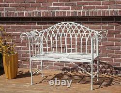 Birchtree 2 Seater Garden Banc Chaise En Métal Ornate Vintage Patio Outdoor Mgb03