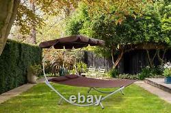 Birchtree Jardin Extérieur Patio Double Sun Lounger Day Bed Hamac Canopy Sdb08