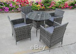 Bistro Jardin En Rotin Wicker Extérieur Meubles Set De Table Repas Chaises 2 4 6