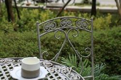 Bistro Set De Jardin En Métal Patio Meubles Extérieurs Chaises De Table En 3 Pièces Vintage