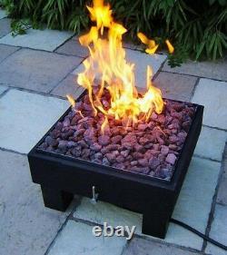 Brightstar Fires, Vega Lpg Gas Fire Pit Chauffage Patio Jardin Extérieur 18kw Royaume-uni