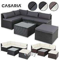 Casaria Poly Rattan Jardin Canapé Corner Furniture Set Outdoor Patio Conservatory