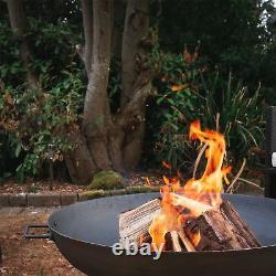 Cast Iron Jardin Fire Pit Jardin Extérieur Back Yard Patio Chauffe-glace 97cm Noir