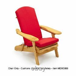 Chaise Extérieure De Pelouse De Patio De Jardin D'adirondack / Fauteuil Avec Le Repos De Jambe De Glissière Loin