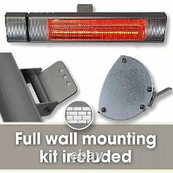 Chauffe-eau Électrique Extérieur Twin Pack Patio 2kw Wall Mounted Infrared Garden Heater