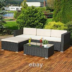 Cliquetan Garden Furniture Set Corner Sofa Lounger Table Outdoor Conservatory Patio