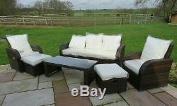 Conservatoire De Rotin Patio Jardin Extérieur Sofa Set Furniture Chaises