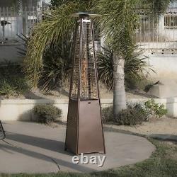 Dealourus Quartz 13kw Gas Patio Heater Garden Pyramid Outdoor With Wheels Tube