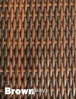 Ensemble De Meubles De Jardin Rattan Patio Extérieur 4 Chaises De Couture Canapé Et Salon De Table