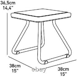 Ensemble De Meubles Keter Garden Chaises Table À Café Balcon En Plein Air Hq Moderne