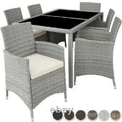 Ensemble Rattan Garden Furniture 6 Chairs Table Dining Room Patio Outdoor Wicker Nouveau